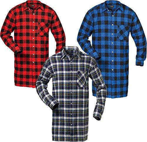 flanelhemd extralang 105 cm r ckenl nge marine hellblau rot kariert gr xxl beliebte sportarten. Black Bedroom Furniture Sets. Home Design Ideas
