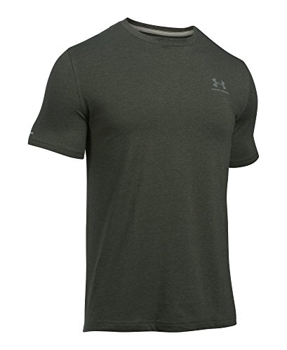 632c417b347224 Under Armour Herren Fitness Cc Left Chest Lockup Kurzarm T-Shirt, Grün  Artillery Green Medium Heather/Tan Stone, MD