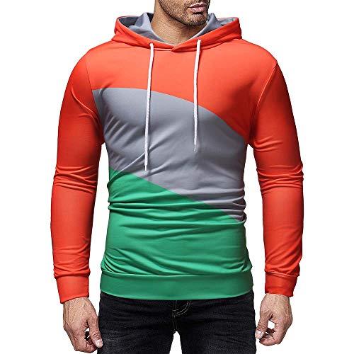 Kaiki Pullover der Männer, Mens  Print Letter Patchwork Hoodie Kapuzen  Sweatshirt Tops Jacke Mantel Outwear 6c72eb74dc